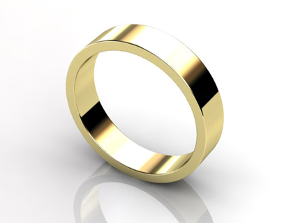 yellow gold flat profile mens wedding rings WGY03