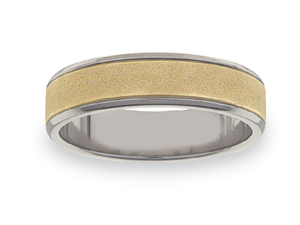 Gold and Titanium Wedding Rings WGT07