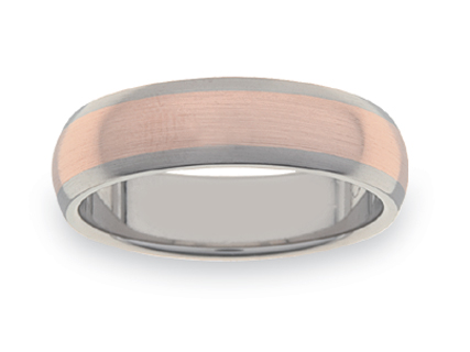 Rose Gold and Titanium Wedding Rings WGT11