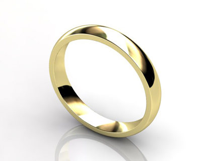 Yellow Gold Wedding Rings WLY05